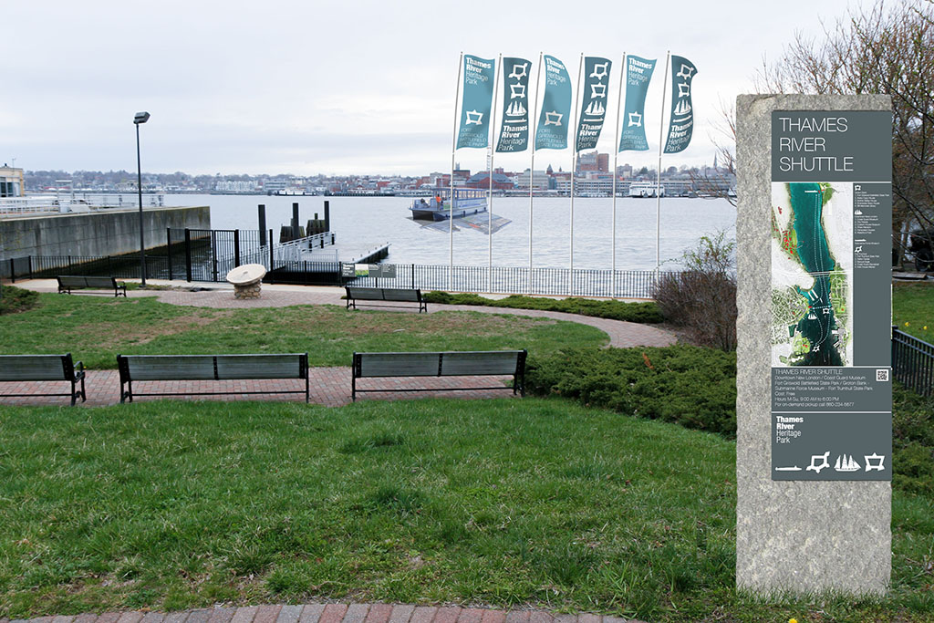 Groton Landing with Proposed Park Signage