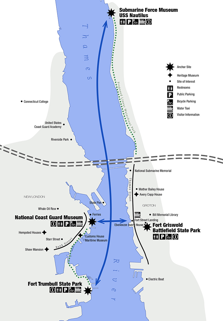 Diagram of the Thames River Heritage Park
